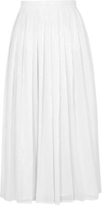 Olivia Rubin Esme White Sequin Midi Skirt