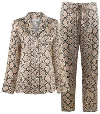 Ginia Silk Python Print Pyjama Set