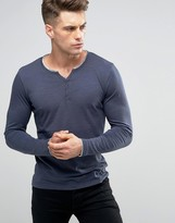 Blend of America Long Sleeve Grandad Top Blue Nights