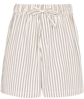 Tekla Striped Pyjama Shorts