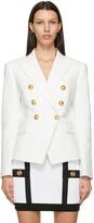 Thumbnail for your product : Balmain White Pique Six-Button Blazer