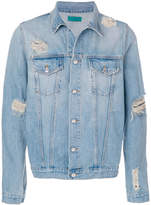 Paura distressed denim jacket