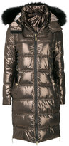 Just Cavalli fur trim padded coat