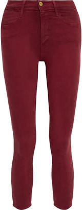 Frame Le High Skinny Cropped High-rise Skinny Jeans
