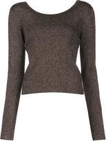 A.L.C. round neck jumper - women - Nylon/Polyester/Merino/Metallic Fibre - L