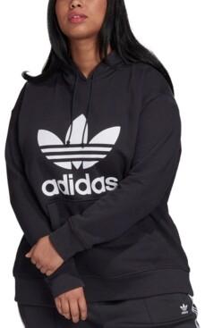 adidas Plus Size Trefoil Hooded Sweatshirt