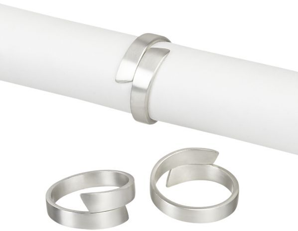 Crate & Barrel Wrap Silver Napkin Ring.