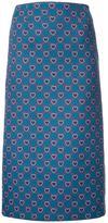 Mary Katrantzou heart print 'Sigma' skirt - women - Polyamide/Polyester/Wool - 6