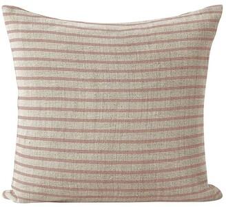 Aura Home Heirloom Stripe Cushion in Rosewater Burgundy Cushion-50x50cm