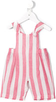 Il Gufo striped dungarees - kids - Cotton/Linen/Flax - 9 mth