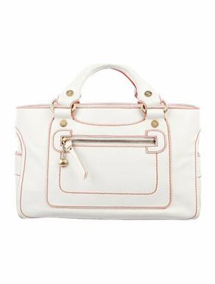 Celine Vintage Leather Tote White