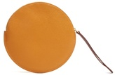 Roksanda Round grained-leather pouch