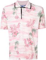 Junya Watanabe Comme Des Garçons tropical print polo shirt