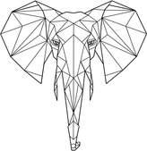 Bespoke Art Framing Elephant Art Print, Unframed Print Only