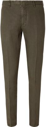 Boglioli Green Slim-Fit Linen Suit Trousers