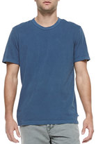 James Perse Cotton Crewneck Tee, Deep Blue