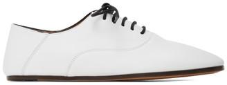 Marni White Lace-Up Jazz Shoes
