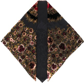 Etro Floral-Embroidered Scarf