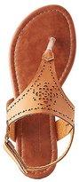 Charlotte Russe Laser Cut T-Strap Sandals