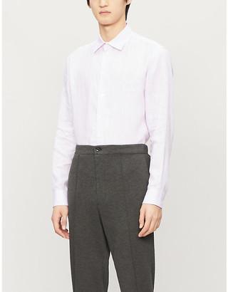 Emporio Armani Slim-fit linen shirt