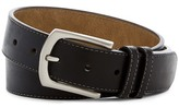 Steve Madden Double Keeper Stitched Leather Belt