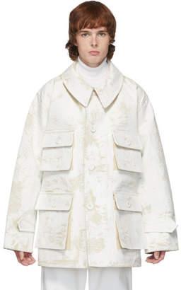 Maison Margiela Off-White Raw Canvas Military Jacket
