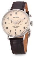 Shinola Canfield Chronograph Alligator Strap Watch