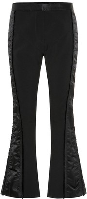 Thierry Mugler Side-striped slim crepe pants