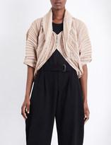 Issey Miyake Pleated silk-blend jacket