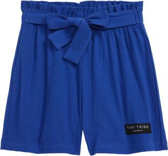 TINY TRIBE Paperbag Waist Shorts
