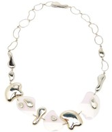 Misho - Sterling-silver Pebble-charm And Lucite Necklace - Womens - Silver