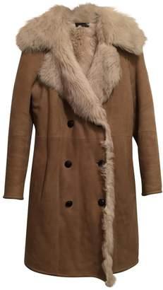 Joseph Beige Leather Coat for Women