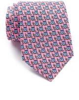Tailorbyrd Owl Print Silk Tie