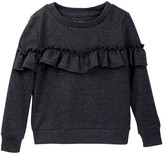 Hudson French Terry Pull Over with Ruffle (Little Girls)