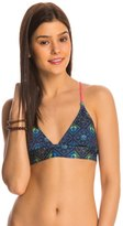 Roxy Swimwear Flower Square Fixed Tri Bikini Top 8145040
