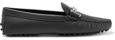 Tod's Gommino Embellished Leather Loafers - Black