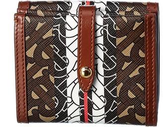 Burberry Monogram E-Canvas & Leather Wallet