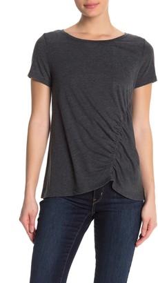 Susina Ruched Burnout T-Shirt (Regular & Petite)