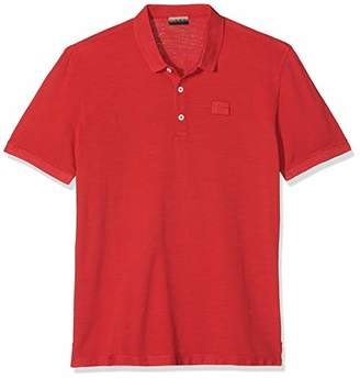 Napapijri Men's Erzin Polo Shirt, (True Red R70), X-Large