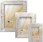 Lawrence Frames Weathered Woods 4-Inch x 6-Inch Picture Frame in Grey
