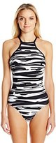 Seafolly Women's Fastlane DD High Neck Maillot One Piece Swimsuit