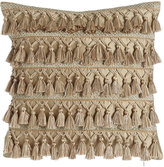 """Dian Austin Couture Home Gwenneth Tassel-Front Pillow, 16""""Sq."""
