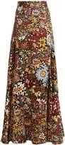 Peter Pilotto Floral-print silk maxi skirt