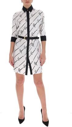 Versace All Over Logo Shirt Dress
