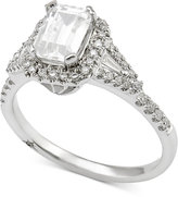Marchesa Certified Diamond Engagement Ring (1 ct. t.w.) in 18k White Gold, Only at Macy's