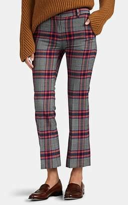 Pt01 Women's Jaine Plaid Crop Flared Trousers - Pink