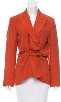 Jean Paul Gaultier Silk Ruffle-Trimmed Blazer