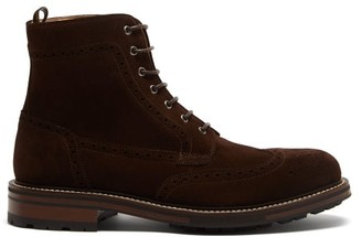 Dunhill Country Suede Ankle Boots - Dark Brown