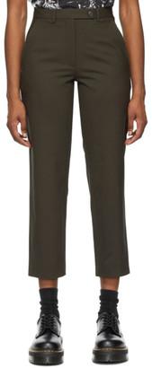 6397 Khaki Gabardine Relaxed Trousers