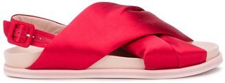Simone Rocha Crossover-Strap Flat Sandals